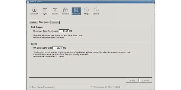 Limiter l'espace disque utilisé par pcloud sur votre ordinateur