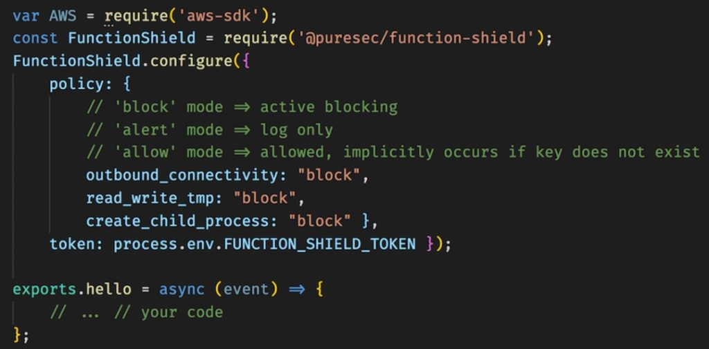 Utilisation FunctionShield de PureSec