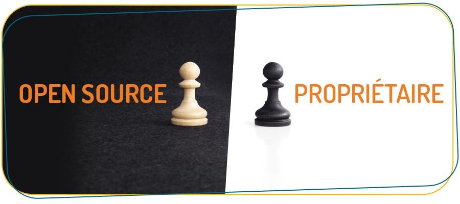 logiciels open source vs logiciels propriétaires